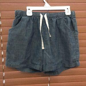 Chambray pull on shorts
